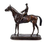 Lot 652-After Alfred Barye (1839-1882): Bronze...