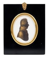 Lot 664-John Miers (fl. 1760-1810) painted silhouette...