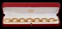 Lot 439-Fine Cartier 18ct gold bracelet with bold...