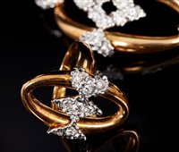 Image for 18ct gold and diamond bracelet and matching...