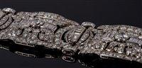 Image for A very fine Art Deco diamond and platinum...