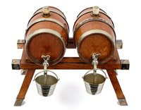 Lot 740 - Pair of early 20th oak and silver plate...