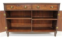 Lot 1248-Regency rosewood and ebony line inlaid cabinet...