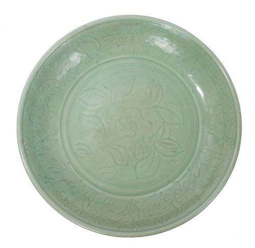 1 - Fine Chinese Ming period Longquan celadon...