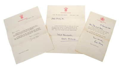 Lot 36-Lady Diana Spencer – rare signed and inscribed printed letter dated 28th April 1981