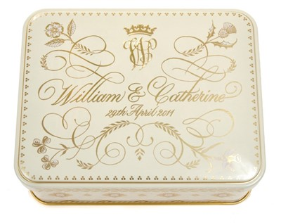 Lot 44-The Wedding of HRH Prince William to Catherine Middleton 29th April 2011 – piece of wedding cake