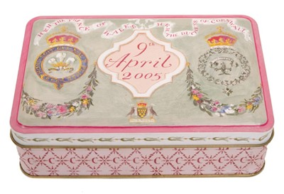 Lot 45-The Wedding of HRH The Prince of Wales to HRH The Duchess of Cornwall, piece of wedding cake