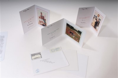 Lot 48-HRH The Prince of Wales – three signed Christmas cards – 1994, 1996 and 1997