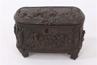 Lot 895 - 19th century Continental bronze casket