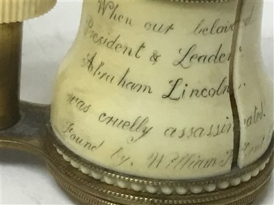 Lot 1300-Mrs Mary Todd Lincoln's opera glasses, dropped in Ford's Theatre the night of President Lincoln's assassination