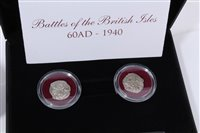 Lot 7-World – The London Mint Office mixed silver coins – to include Ancient 11th Cent. Deniers (x 2) (N.B. with documentation of Authenticity), English – circa 1272 – 1307AD Edward I silver Penny.  AVF,...