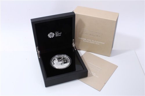 Lot 12-G.B. The Royal Mint 100th Anniv. of The First World War Silver Proof Five-Ounce £10 coin 2014 – in case of issue with Certificate of Authenticity (1 coin)