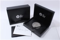 Lot 14-G.B. The Royal Mint Arthurian Legend Masterpiece silver Eight-Ounce comm. medallion limited edition 2012 - in case of issue with Certificate of Authenticity (1 medallion)