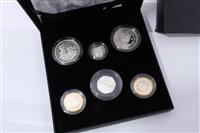 Lot 18-G.B. The Royal Mint silver Six Coin Family Proof Collection – to include 'Kew Gardens' 50p, etc, 2009 – cased with Certificate of Authenticity (1 coin set)