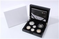 Lot 19-G.B. The Royal Mint silver Six Coin Proof Celebration Set – to include 'Prince Philip 90th Birthday £5', etc, 2011 – cased with Certificate of Authenticity (1 coin set)