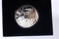 Lot 21-Guernsey – Westminster Silver Proof Five-Ounce £10 coin with colour image of Hawker Hurricane 2010 - cased with Certificate of Authenticity (1 coin)