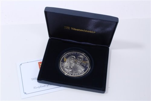 Lot 24-Jersey – Westminster Silver Proof Five-Ounce £10 coin comm. The Royal Wedding 2011 - cased with Certificate of Authenticity (1 coin)