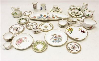 Lot 2006-Selection of miniature china – including Wedgwood Wild Strawberry, Wedgwood Kutani Crane, Coalport, Royal Worcester, Spode, etc