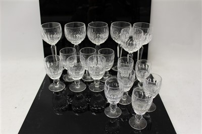 Lot 2008-Good quality Waterford Crystal Colleen pattern part table service – comprising six hocks, six sherry and six port