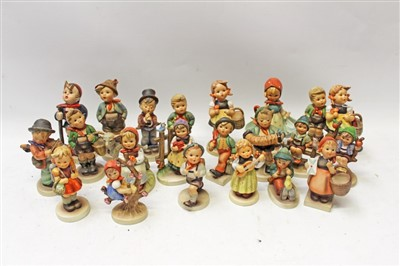Lot 2012-Collection of twenty-one Hummel figures – including Good Friends, Village Boy, School Girl, Mother's Darling, To The Market, etc