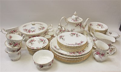 Lot 2013-Royal Albert Lavender Rose pattern tea and dinner service (42 pieces)
