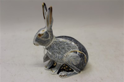 Lot 2038-Royal Crown Derby Collectors Guild paperweight – Starlight Hare