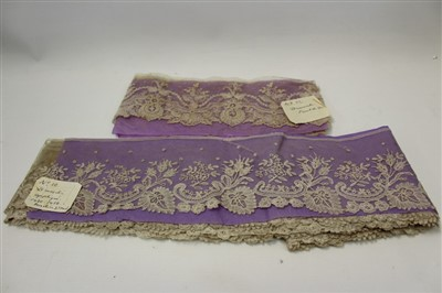 Lot 3080-Collection of lace and letters relating to the V&A