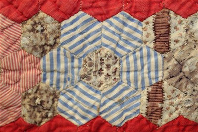 Lot 3053-Victorian Patchwork Quilt