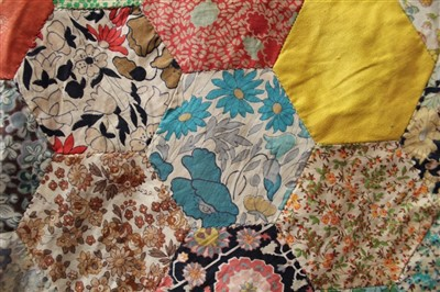 Lot 3055-Four Victorian Patchwork Quilts