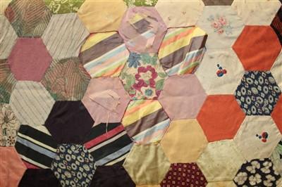 Lot 3055-Four Victorian Patchwork Quilts