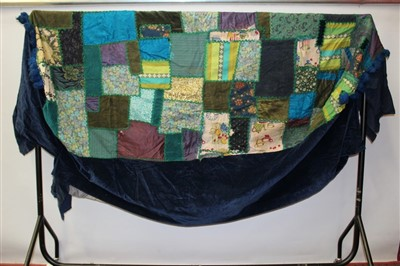 Lot 3056-Victorian 'Square' design Patchwork Quit Plus two others