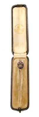 Lot 3-HRH George Prince of Wales (later King George V) Royal Presentation gold, diamond, enamel stick pin