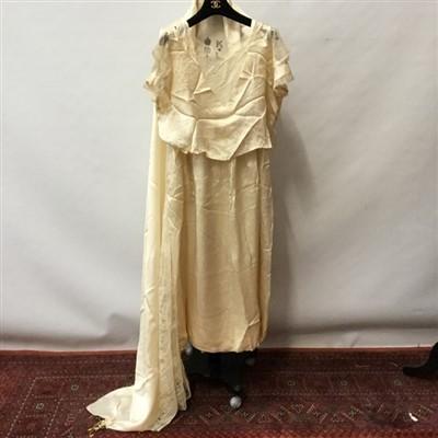 Lot 3063-1920s fine lingerie and silk wedding dress