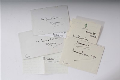 Lot 13-HRH Prince Charles Prince of Wales, 3 letters to Mr Dennis Brown RVM and The Duke of Beaufort letter