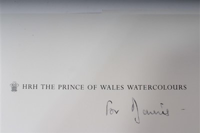Lot 19-TRH Prince Charles Prince of Wales, Diana Princess of Wales, book 'HRH The Prince of Wales Watercolours'
