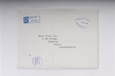 Lot 20-TRH The Prince and Princess of Wales – signed 1986 Christmas card, inscribed, sent to Dennis Brown
