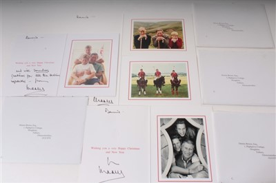 Lot 30-HRH Prince Charles Prince of Wales – four signed and inscribed 1990s Christmas cards