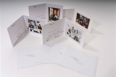 Lot 31-HRH Prince Charles Prince of Wales – four signed and inscribed 2000s Christmas cards