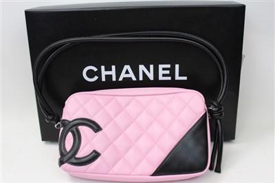 Lot 3066-Chanel Pink Cambon Handbag.