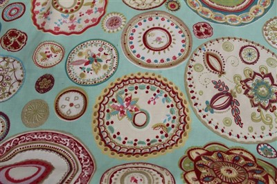 Lot 3077-Roll of printed cotton fabric 'Harlequin'