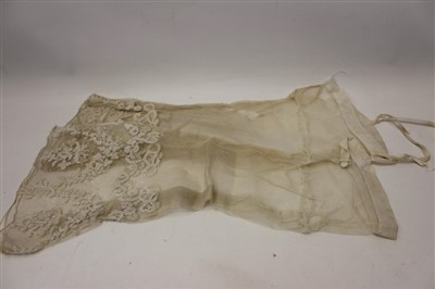 Lot 3079-Collection of early 19th century lace items