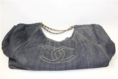 Lot 3081-Chanel Denim  Vintage Holdall