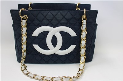 Lot 3082-Chanel Denim Vintage Handbag