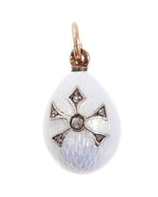 Lot 670-Six Russian egg pendants