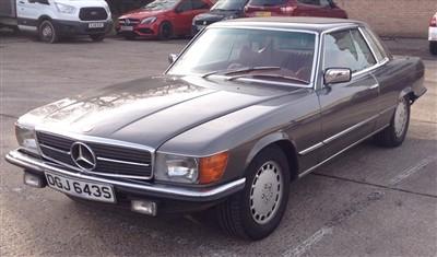 Lot 2950-1978 Mercedes 450 SLC Coupe.  Registration no. DGJ643S.  4.5 litre V8 Automatic - left-hand drive Japanese Import