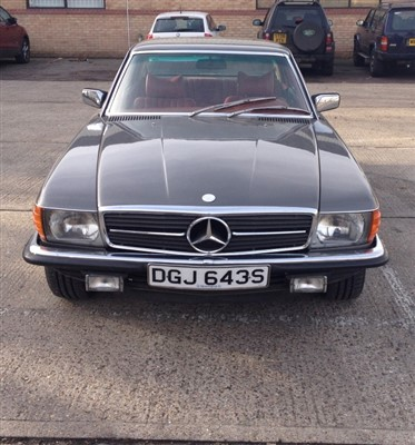 Lot 2950-1978 Mercedes 450 SLC Coupe.  Registration no. DGJ643S.  4.5 litre V8 Automatic - left-hand drive Japanese Import