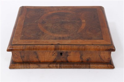 Lot 800 - William and Mary style laburnums oyster veneered lace box