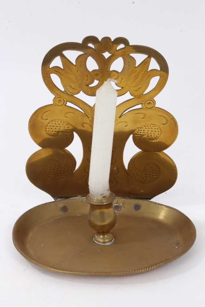 Lot 803-Dutch brass chamberstick