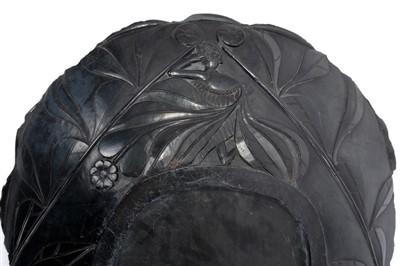 Lot 810-Rare 19th century Haida argillite platter