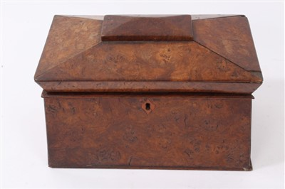 Lot 813-George IV pollard oak tea caddy